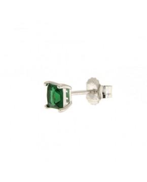 Ohrringe Maria klein silber smaragd grün seitlich