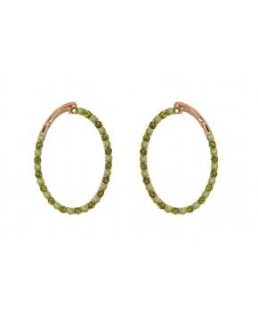 Ohrringe Olivia rosegold grüntöne