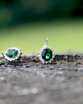 Ohrringe Sissi silber smaragd grün