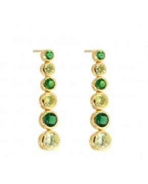 Ohrringe Sophia gelbgold smaragd grün frisches grün frontal