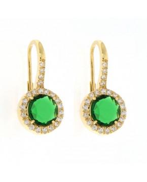 Ohrringe Victoria gelbgold smaragd grün