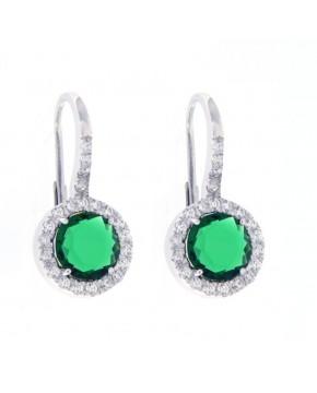 Ohrringe Victoria silber smaragd grün