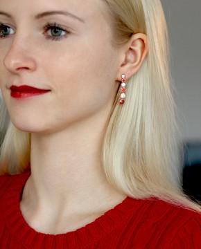 Rose Ohrringe rot Sophia