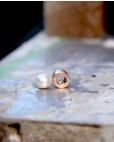 Perlen-Anhänger Alicia rosegold mit weiß seitlich