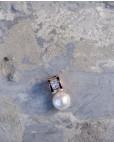 Perlen-Anhänger Alicia rosegold mit weiß