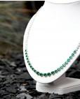 Collier Charlene silber smaragd grün weiß seitlich