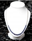 Collier Charlene silber saphir blau weiß frontal