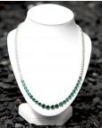 Collier Charlene silber smaragd grün weiß frontal