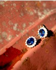 Goldene Ohrringe blau Sissi