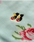 Goldene Ohrstecker pink Anna klein von vorne oben
