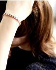 Goldenes Armband blau Fanny