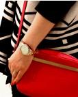 Goldebes Armband für Damen pink Fanny kombiniert mit Esprit Uhr