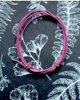 Lederband rosa