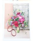 Ohrringe Olivia rosegold pink mit Pfingstrosen