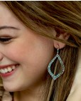 Rosegold vergoldeter Sterling Silber Ohrring türkis Ava seitlich