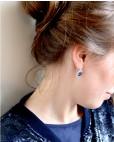 Silber Ohrring blau Sissi an Person seitlich