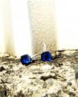 Silber Ohrringe blau Alexandra