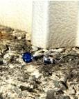 Silber Ohrringe blau Alexandra seitlich liegend