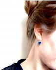 Silber Ohrring blau Sissi an Person