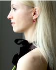 Sterling Silber Ohrringe pink Alexandra seitlich