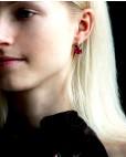 Sterling Silber Ohrringe pink Alexandra am Model