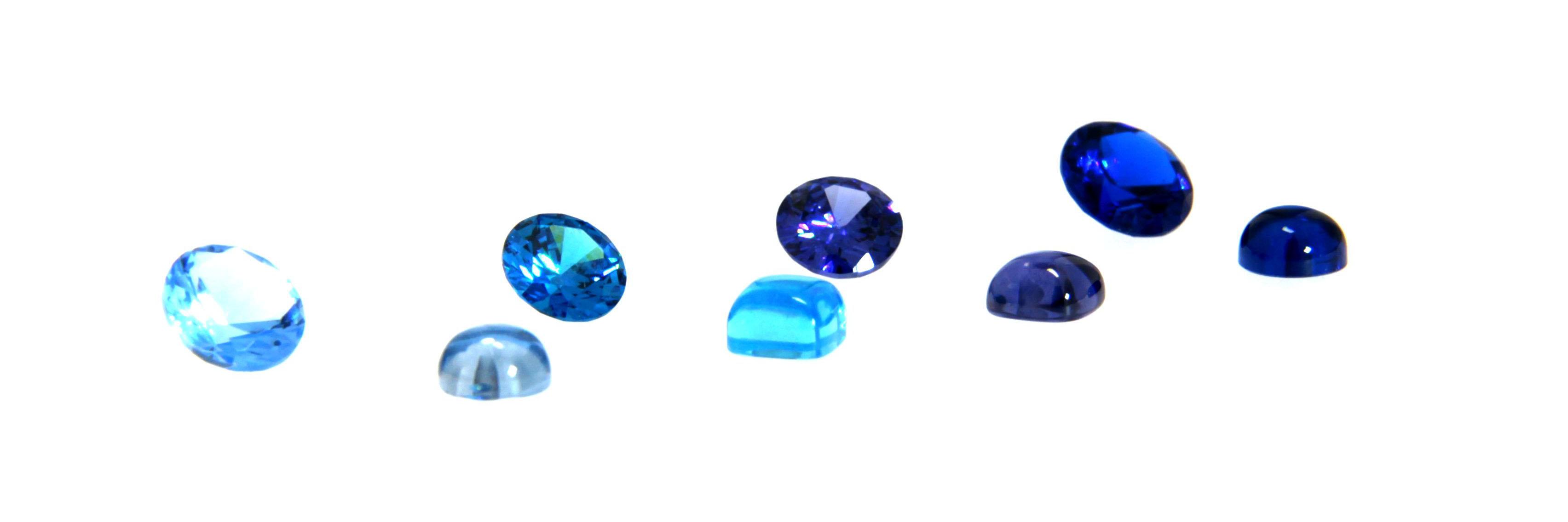 blaue Zirkonia Farbsteine