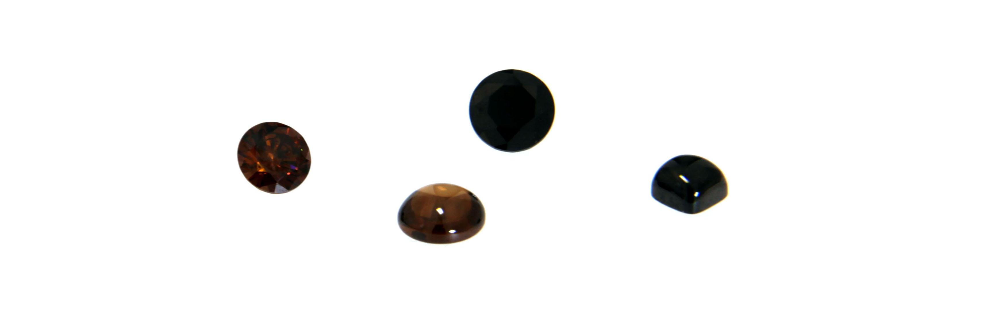 dunkle Zirkonia Farbsteine