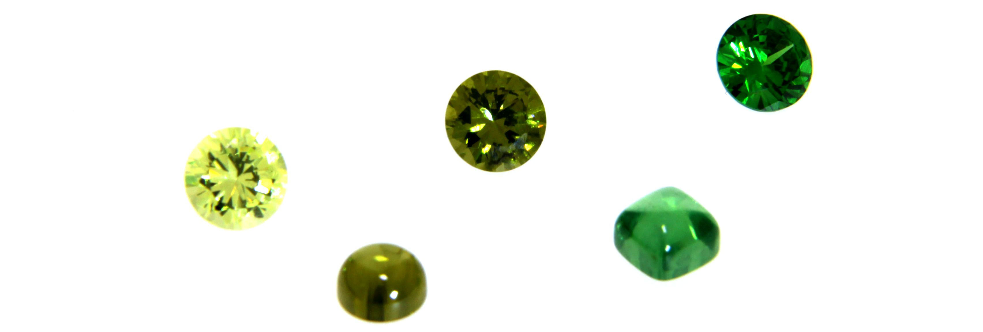 grüne Zirkonia Farbsteine