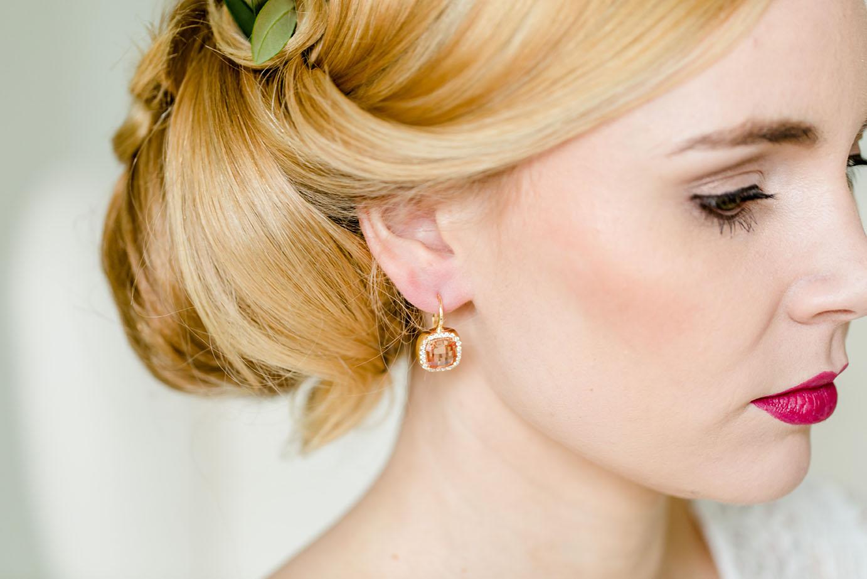 Ohrringe Katharina gelbgold champagner 2