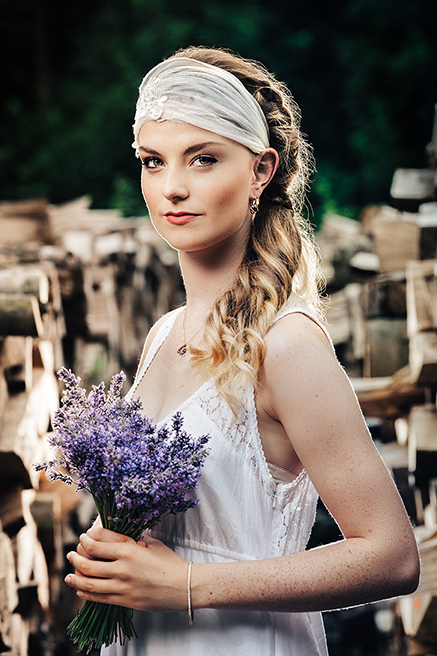 Braut Ohrringe lila und Lavendel Brautstrauss
