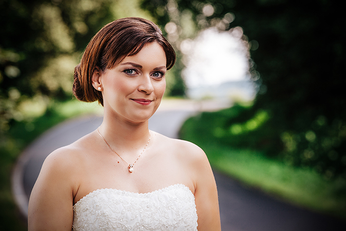 Perlen Ohrstecker - klassische Braut Ohrringe